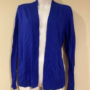 NWT Cobalt Blue Open Front Cardigan